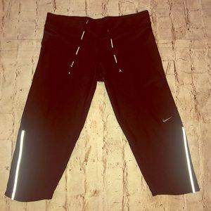 Nike cropped running pants leggings reflectors EUC